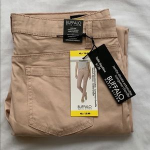 Buffalo David Bitton pink ankle grazer pant size 6